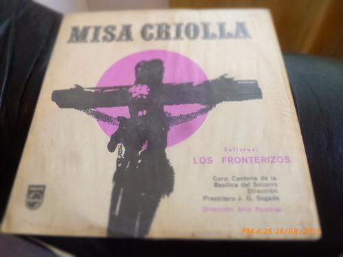 vinilo lp de los fronterizos --misa criolla (1374