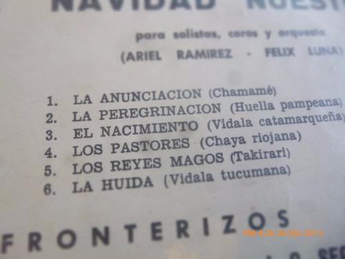 vinilo lp de los fronterizos --misa criolla (u623