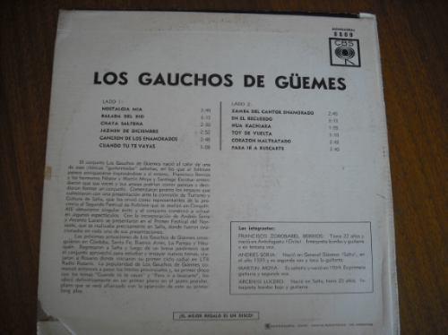 vinilo  lp de los gauchos de guemes (u636