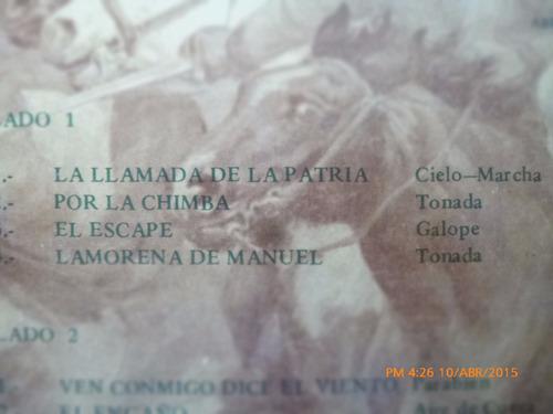vinilo lp  de los huasos quincheros  a don manuel (1331)