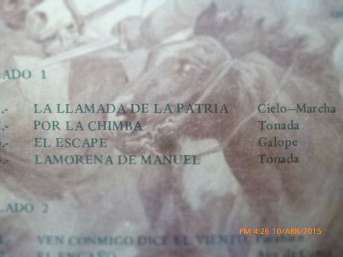 vinilo lp  de los huasos quincheros  a don manuel (u1046