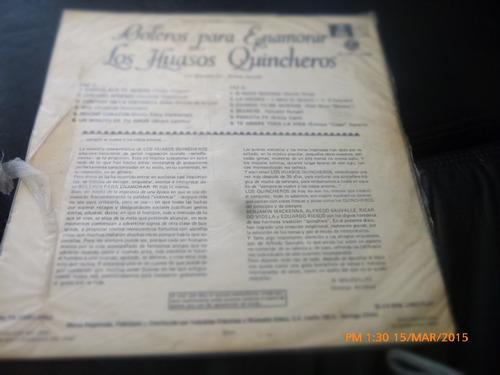 vinilo lp de los huasos quincheros -boleros para enamo (1261