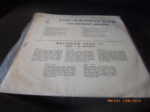 vinilo lp de los swingle singers --jazz sebastian bach(u492