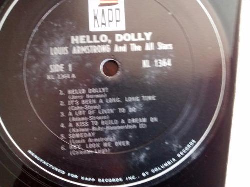 vinilo lp de louis armstrong - hello dolly (u1300