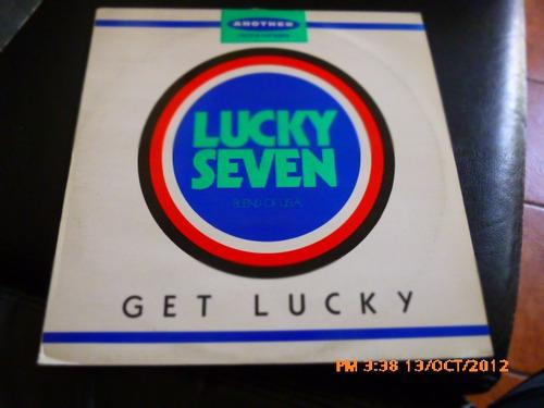 vinilo lp de lucky seven  get lucky (u452