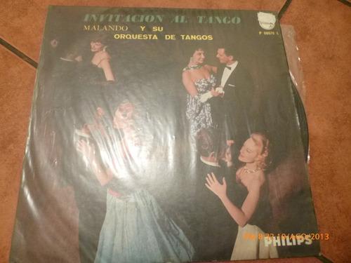 vinilo lp de malando y su orquesta de tango (u392