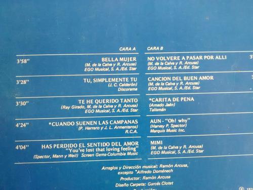 vinilo  lp de manolo otero -  bella mujer (u1282