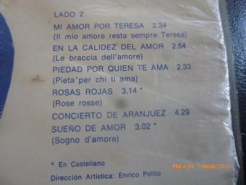 vinilo lp  de massimo ranieri -rosas rojas (lp234