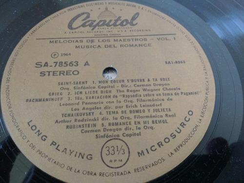 vinilo lp de melodias de los maestros (u1351