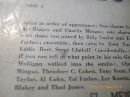vinilo lp de  metronome all stars 1956 (1261