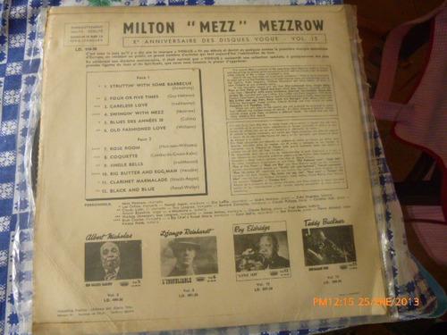vinilo lp de mezz mezzrow  -  swingin with mezz (4) vg++