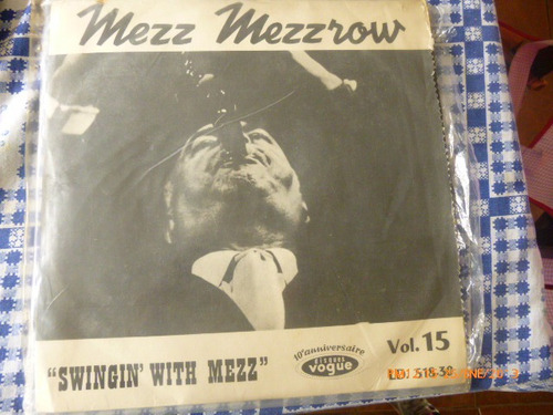 vinilo lp de mezz mezzrow  -  swingin with mezz  vg++ (u-1