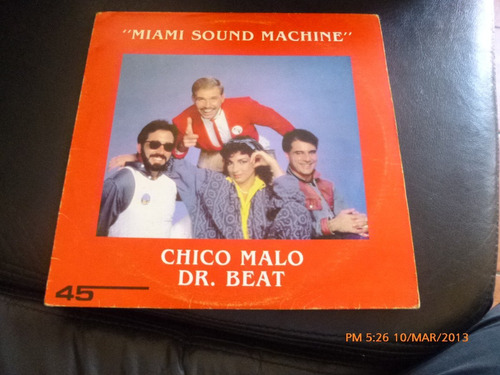 vinilo lp de miami sound machine  - chico malo (470)