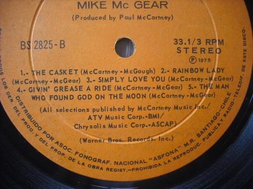 vinilo lp de mike mc gear   /  mc gear (u385