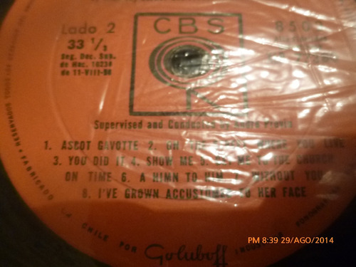 vinilo lp  de my fair lady   - -audrey rex (354