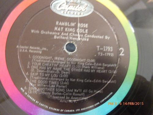 vinilo lp de nat king cole --ramblin rose (262