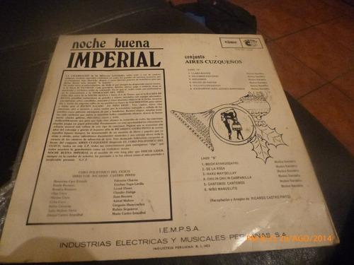 vinilo lp de noche buena imperial -- conj aires cuzqueños
