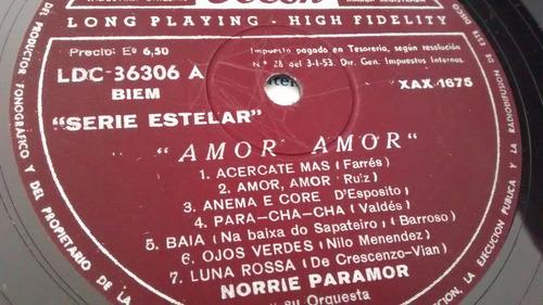vinilo lp de norrie paramour -amor amor (u911