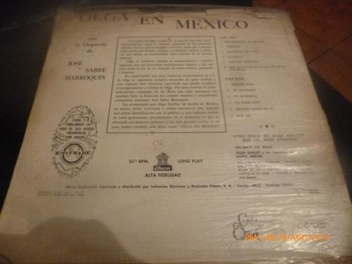 vinilo lp de olga guillot -- en mexico (u812