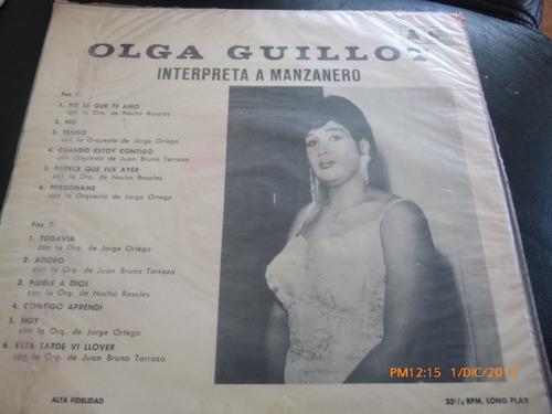 vinilo lp de olga guillot  interpreta a manzanero (u261