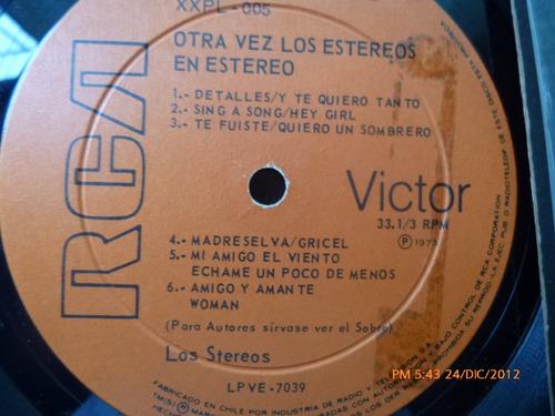 vinilo lp de  otra vez los stereos en stereo (u540