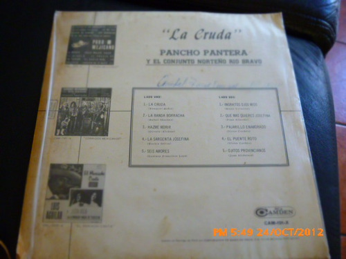 vinilo lp de pancho pantera  cruda (u620