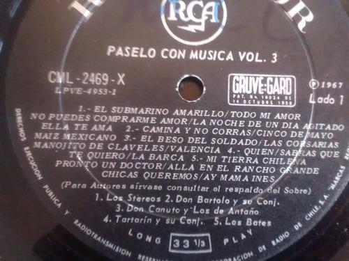 vinilo lp de paselo con musica vol 3   (u1207