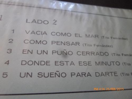 vinilo lp  de patty chavez  -- canta a tito fernandez(u232