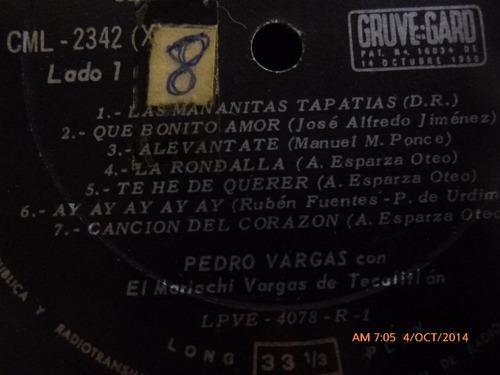 vinilo lp de pedro vargas  --serenata en tu balcon (964)