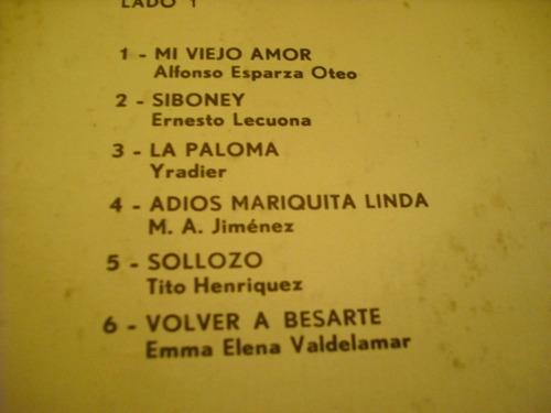 vinilo lp de  pedro vargas--- siboney (236)
