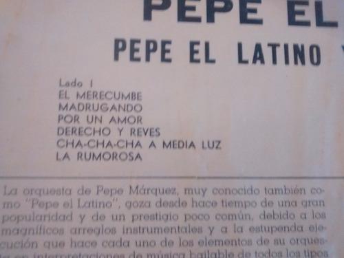 vinilo lp de pepe el latino y su orquesta(u244