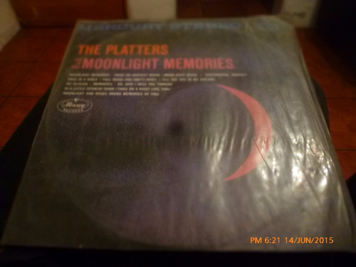 vinilo lp de platters moonlight memories   (609