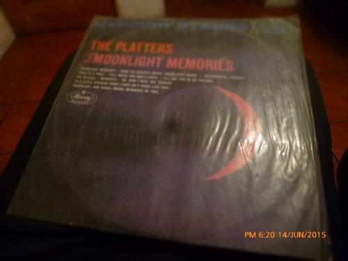 vinilo lp de platters moonlight memories   (u536