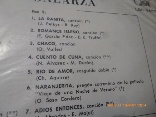 vinilo lp de  ramona galarza  cancionero guarani   (lp330