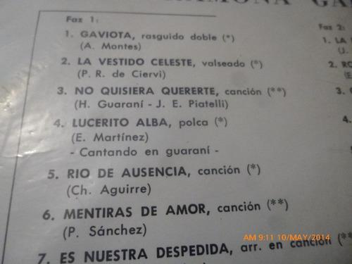 vinilo lp de  ramona galarza  cancionero guarani   (u407
