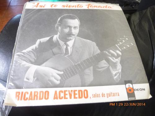 vinilo lp de ricardo acevedo , solos de guitarra (155