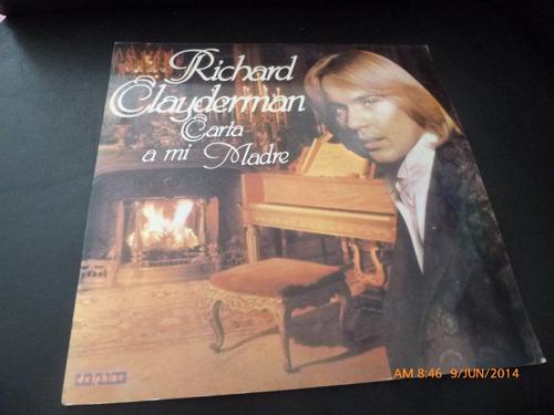 vinilo lp de richard clayderman- canta a mi madre (1007