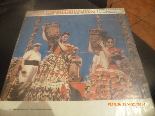 vinilo lp de rimsky korsakoff --capricho español (381