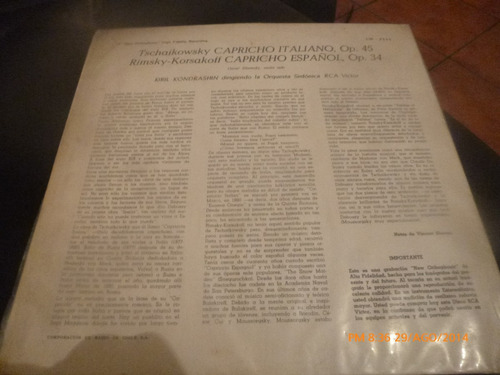 vinilo lp de rimsky korsakoff --capricho español (u295