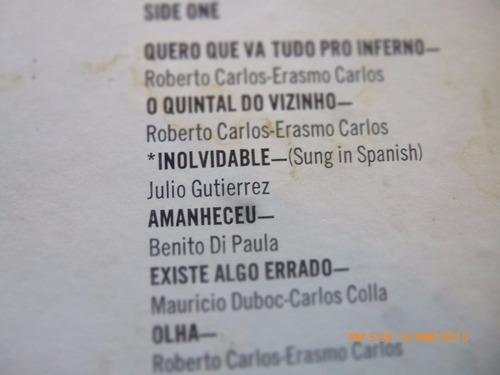 vinilo lp de roberto carlos canta en español-portugues (u480