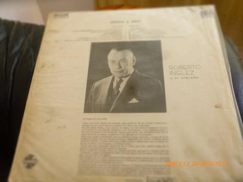 vinilo lp de roberto inglez  -- musica y amor (u1070