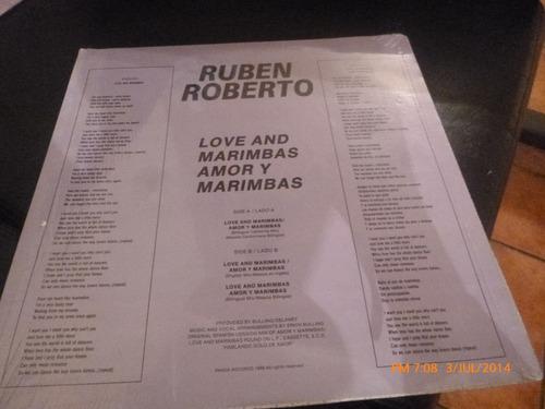 vinilo lp de ruben roberto -- amor y marimbas (156