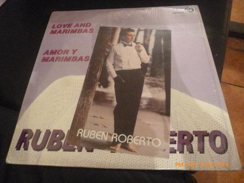 vinilo lp de ruben roberto -- amor y marimbas (u73