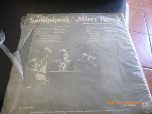 vinilo lp de sandpipers- misty roses  (u775