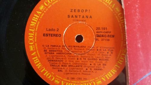 vinilo lp de santana zebopi (u1225