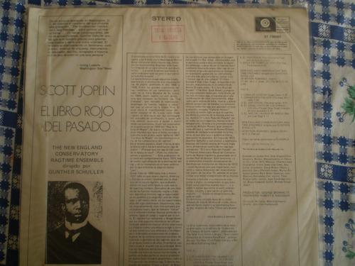 vinilo lp de scott joplin  el libro rojo del pasado (u747