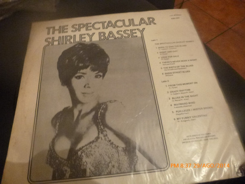 vinilo lp de shirley bassey -- the spectacular (361