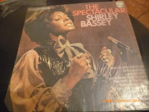 vinilo lp de shirley bassey -- the spectacular (u391