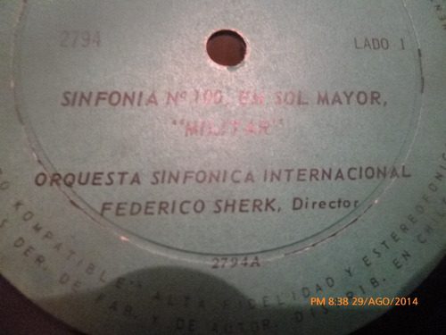 vinilo lp de sinfonia militar de haydn   sinfonia n°100 (357