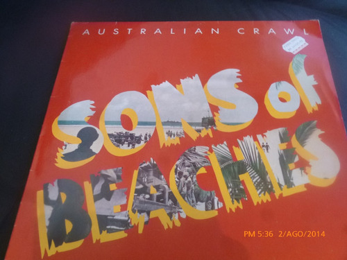 vinilo lp de sons of beaches  australian crawl